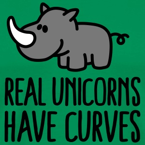 Real unicorns have curves T-shirts - Herre premium T-shirt