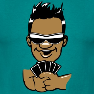 Head hands playing poker sunglasses T-Shirts - Men's T-Shirt
