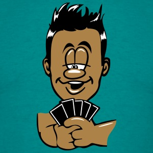 hoved hænder cards poker play T-shirts - Herre-T-shirt