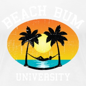 Beach Bum University | Palm - Sunset - Hammock T-Shirts - Frauen Premium T-Shirt