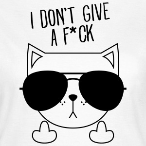 Geek Cat | Sunglasses | Don't Give A FCK T-Shirts - Women's T-Shirt