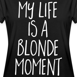 Blonde Moment Funny Quote T-shirts - Oversize-T-shirt dam