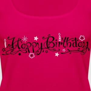 Happy birthday logo met kaarsen Tops - Vrouwen Premium tank top