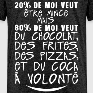 20 80 veut mince chocolat citation volon Tee shirts - T-shirt Premium Enfant