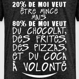 20 80 veut mince chocolat citation volon Tee shirts - T-shirt Premium Ado