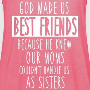 God made us best friends Topy - Tank top damski Bella