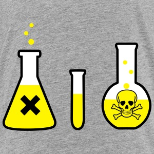 Science, Chemistry - Danger! (3 colors) Shirts - Teenage Premium T-Shirt