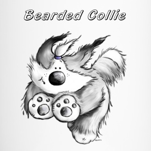 Courir Bearded Collie. Bouteilles et Tasses - Mug thermos