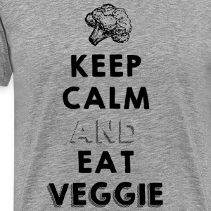 keep calm and eat veggie Tee shirts - T-shirt Premium Homme