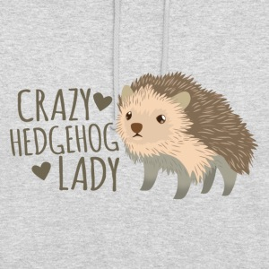 crazy hedgehog lady Hoodies & Sweatshirts - Unisex Hoodie