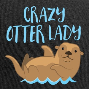 crazy otter lady Caps & Hats - Jersey Beanie