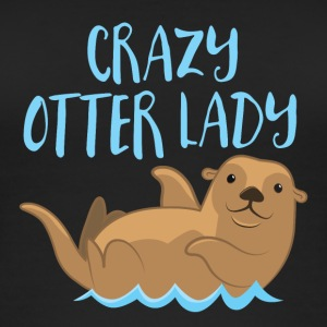 crazy otter lady Tops - Women's Organic Tank Top