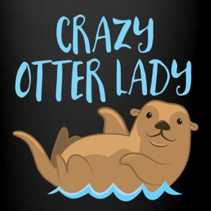 crazy otter lady Mugs & Drinkware - Full Colour Mug