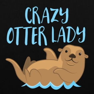 crazy otter lady Bags & Backpacks - Tote Bag
