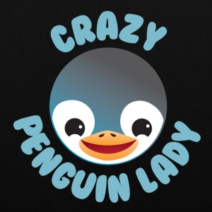 crazy penguin lady Bags & Backpacks - Tote Bag