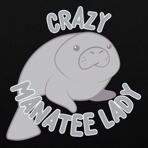 crazy manatee lady Bags & Backpacks - Tote Bag