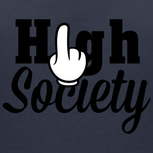 Achtung High Society T-Shirts - Women's V-Neck T-Shirt