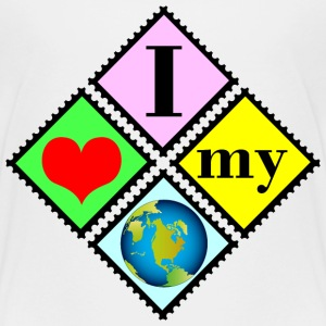 Ich liebe die Erde / I love the earth T-Shirts - Teenager Premium T-Shirt