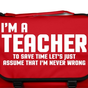 I'm A Teacher Funny Quote Bags & Backpacks - Shoulder Bag