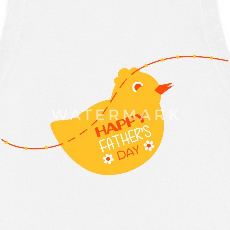 Tablier papa f te des p res naissance b b anniversaire spreadshirt - Fete pour naissance bebe ...