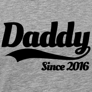 Daddy since 2016 T-shirts - Herre premium T-shirt
