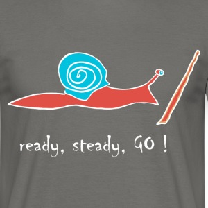 running snail 02 -- ready, steady, GO ! T-Shirts - Männer T-Shirt