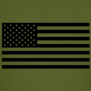 USA flag one colour - Männer Bio-T-Shirt