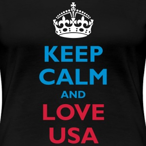 Keep Calm and Love USA - Women's Premium T-Shirt