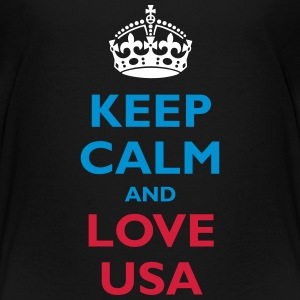 Keep Calm and Love USA - Teenage Premium T-Shirt