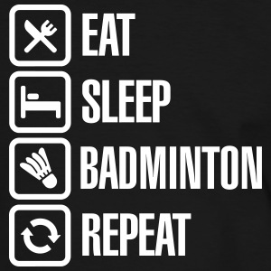 Eat Sleep Badminton Repeat T-shirts - Mannen contrastshirt