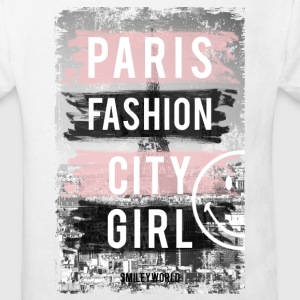 SmileyWorld Paris Fashion Girl - Maglietta ecologica per bambini