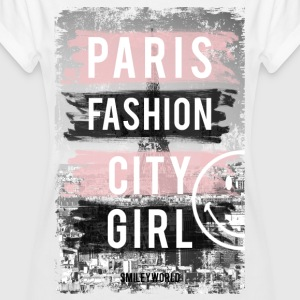 SmileyWorld Paris Fashion Girl - Camiseta holgada de mujer