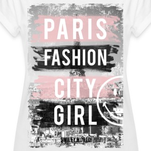SmileyWorld Paris Fashion Girl - Oversize T-skjorte for kvinner