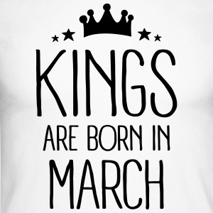 Kings Are Born In March Manches longues - T-shirt baseball manches longues Homme