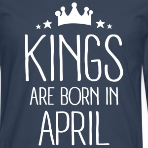 Kings Are Born In April Manches longues - T-shirt manches longues Premium Homme