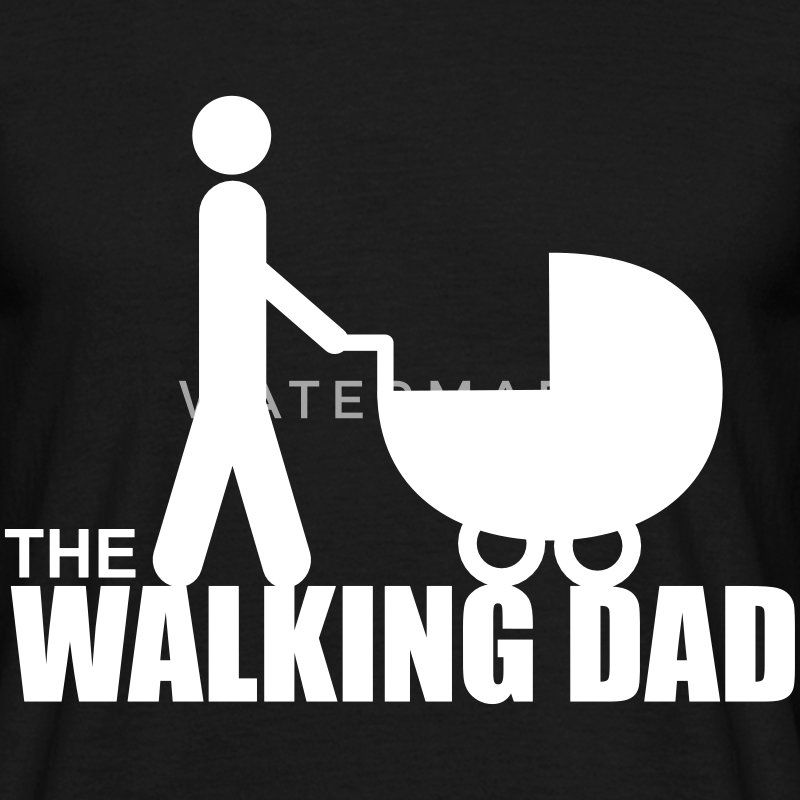 The walking dad, cadeau père, papa  - T-shirt Homme