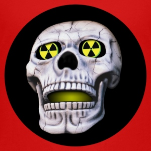 Skull with nuclear eyes Shirts - Teenage Premium T-Shirt