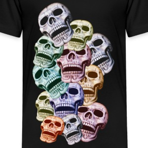 Colorful Skulls Shirts - Teenage Premium T-Shirt