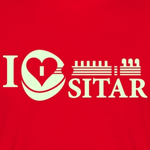 I LOVE SITAR - Men's T-Shirt