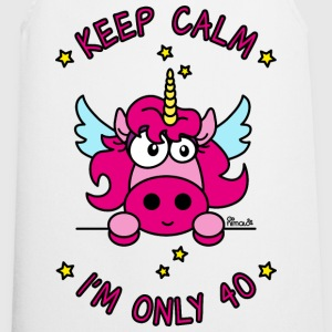 Tablier Licorne Keep Calm, I'm only 40 ans - Tablier de cuisine