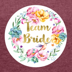 team_bride_bouquet T-Shirts - Women's T-shirt with rolled up sleeves