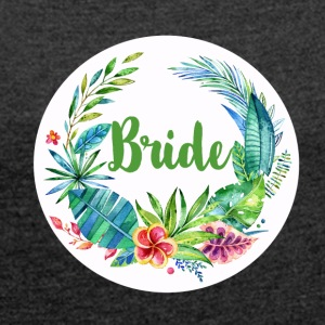 bride_flower_2 T-Shirts - Women's T-shirt with rolled up sleeves