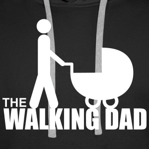 The walking dad, gift, Daddy - Men's Premium Hoodie