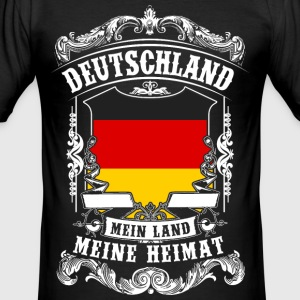 Tyskland - mit land - mit hjem T-shirts - Herre Slim Fit T-Shirt