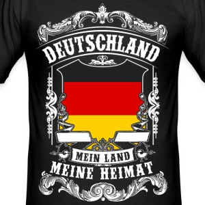 Tyskland - mitt land - mitt hem T-shirts - Slim Fit T-shirt herr