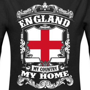 England - My country - My home Babybody - Ekologisk långärmad babybody