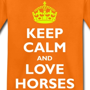 Keep Calm and Love Horses - Kids' Premium T-Shirt