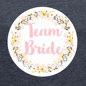 team_ride_wreath_flower_power T-skjorter - T-skjorte med rulleermer for kvinner