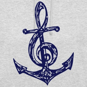 Anchor, music note, bass, clef, musician, sailing, Hoodies & Sweatshirts - Unisex Hoodie