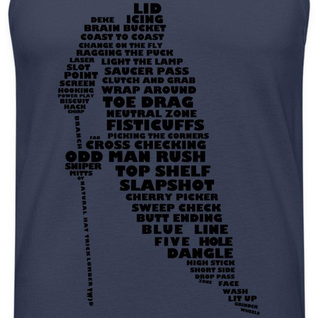 Hockey Player Typography Men's Vest Top